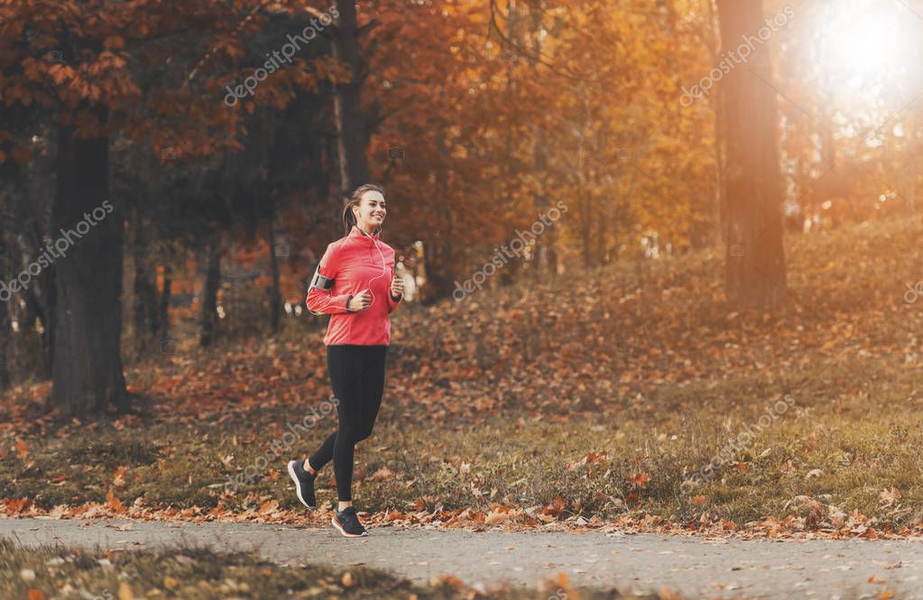 Attractive Woman Jogging.