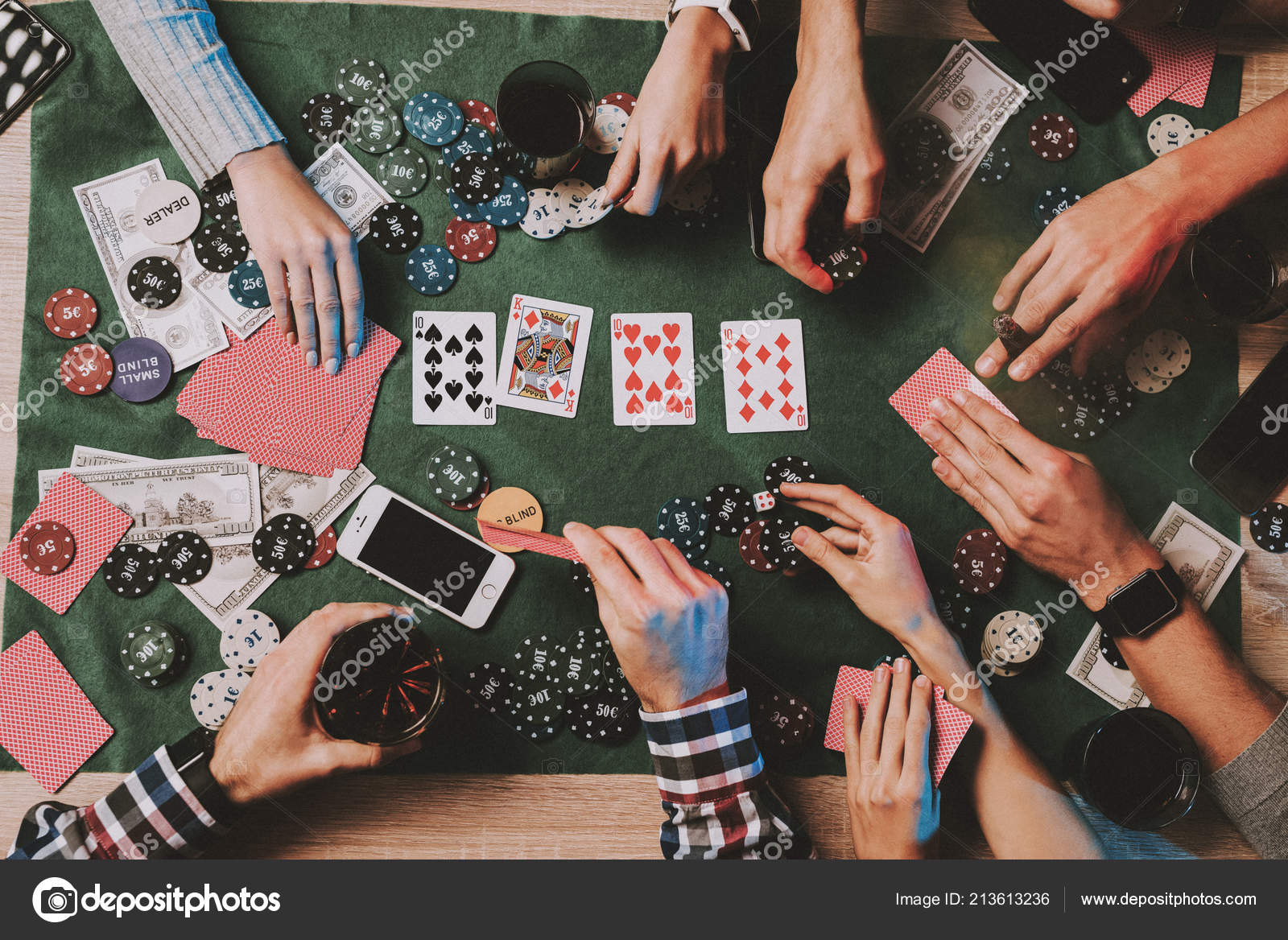 Young Friends Playing Poker Party Home Playing Games Indoor Fun ⬇ Stock  Photo, Image by © vadimphoto1@gmail.com #213613236