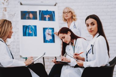 Oncology and Therapy Profession for Student. Nurse Speak with Student. Servise for Patient. Pediatrician and Medicine. Profession for Student. Sign for Student. Nurse Support Young Profession Pharmacy