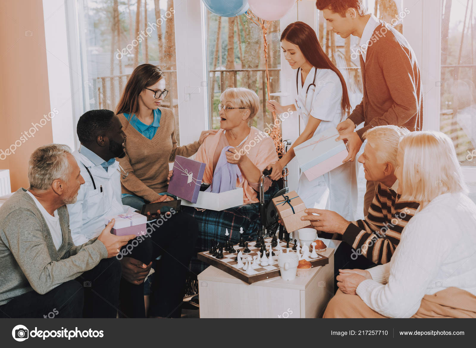 Congratulate Very Happy Gifts Balloons Nursing Home Young Old People