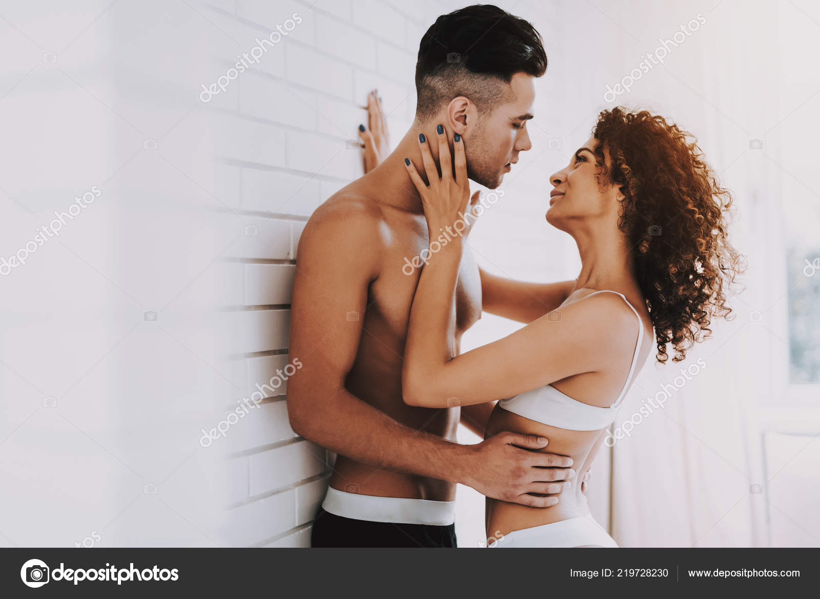 MARIE: Attractive model couple passionate love