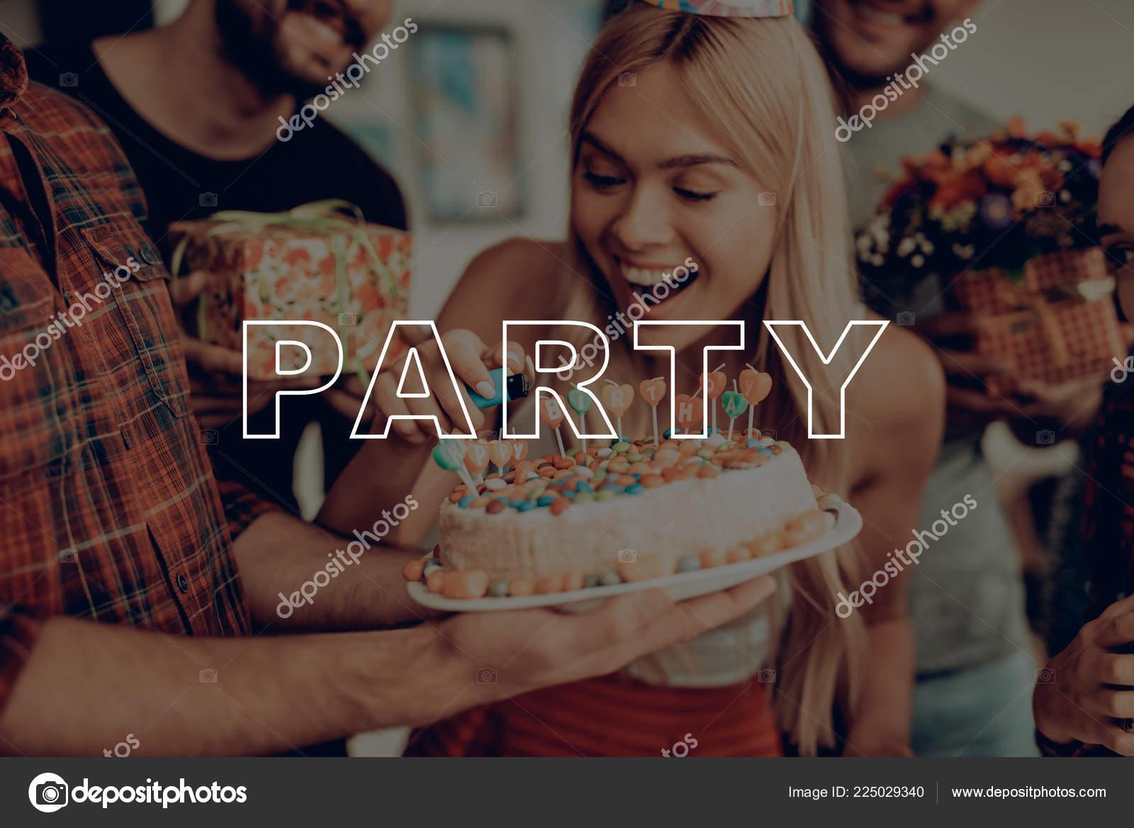 Wondrous Surprise Birthday Party Birthday Girl Ignite Candles Man Hold Birthday Cards Printable Giouspongecafe Filternl