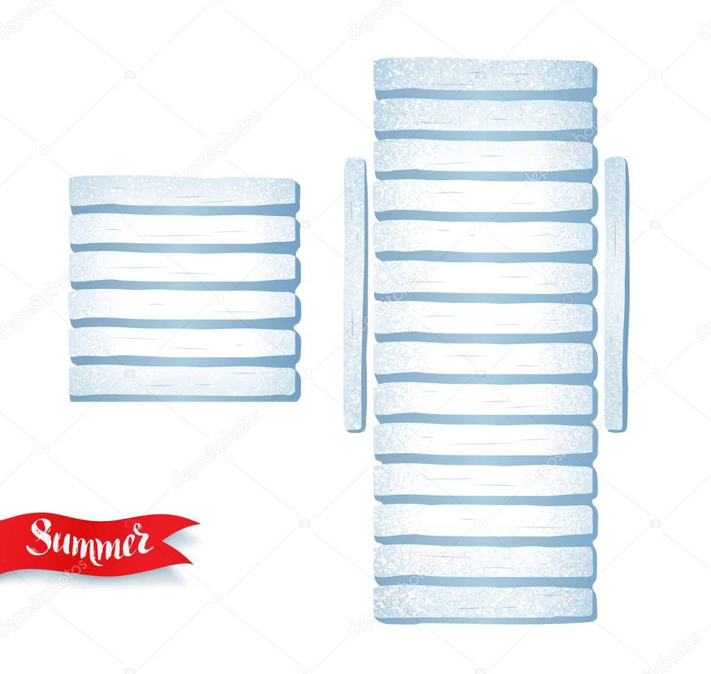 summertime illustration of sun bed