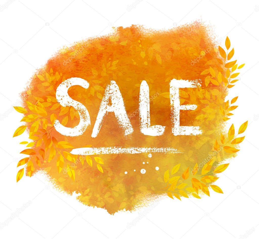 Sale word chalked lettering