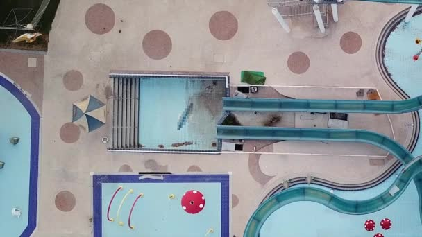North District, Israel - July 27, 2020: Abandoned water park due to coronavirus limitations.