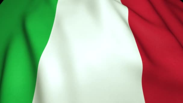 Waving realistic Italy flag in 4K , loop animation