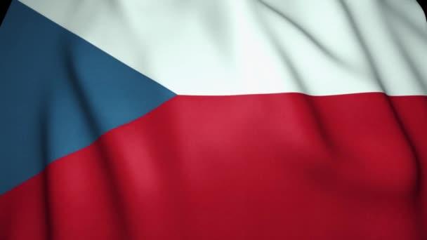 Waving realistic Czech Republic flag, 4k background, loop animation