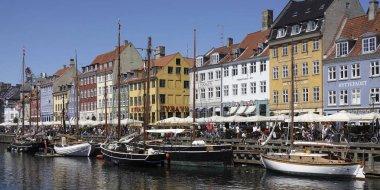 New Harbour in Copenhagen, Denmark stock vector