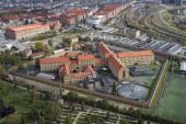 Letecký pohled na věznici Vestre, Dánsko