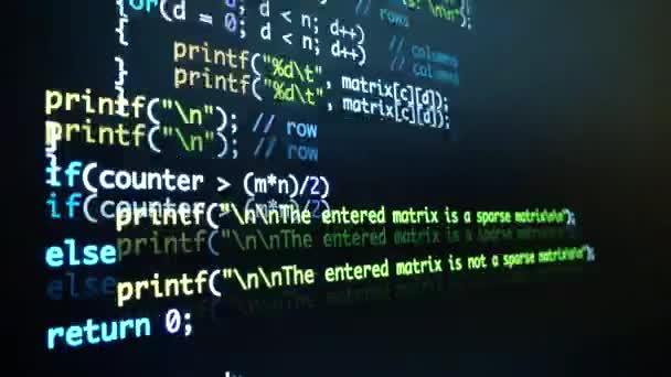 Sviluppatore software codice sul computer di programmazione