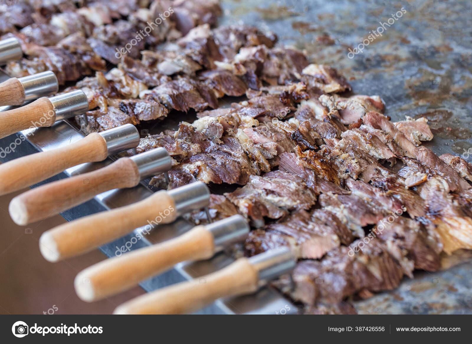 turkish slanting doner cag kebab erzurum cag kebab meat made stock photo image by c mc atolye 387426556