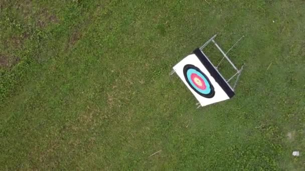 aerial view of the field for archery training