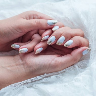 Bright manicure. Spring ideas for women, beauty and care for hands and nails