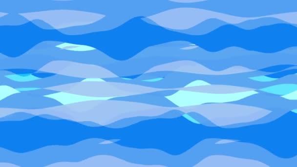 plochý animace s pruhem vlna