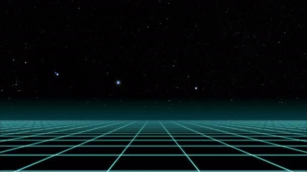 Přelet nad mřížku, 80s Retro Sci-fi