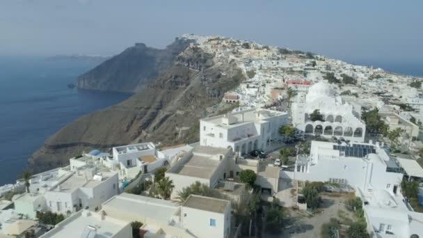 Aerial view of famous Greek resort Thira.
