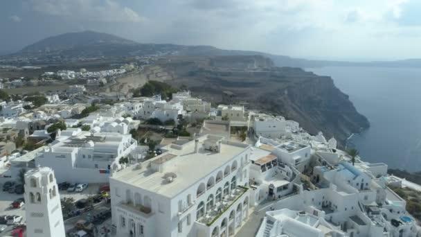 Letecký pohled na známého řeckého pobřeží Thira.