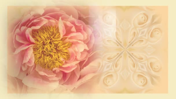 Vintage floral background with copy space
