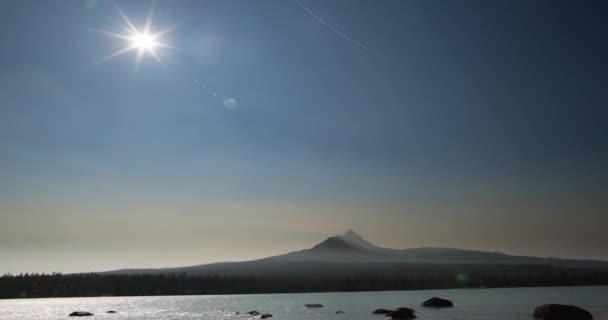 Total solar eclipse over Oregon's Mount Washington on August 21st 2017