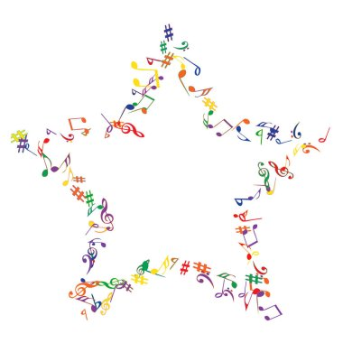 Musical Signs. Modern Background with Notes. Vector Element for Musical Poster