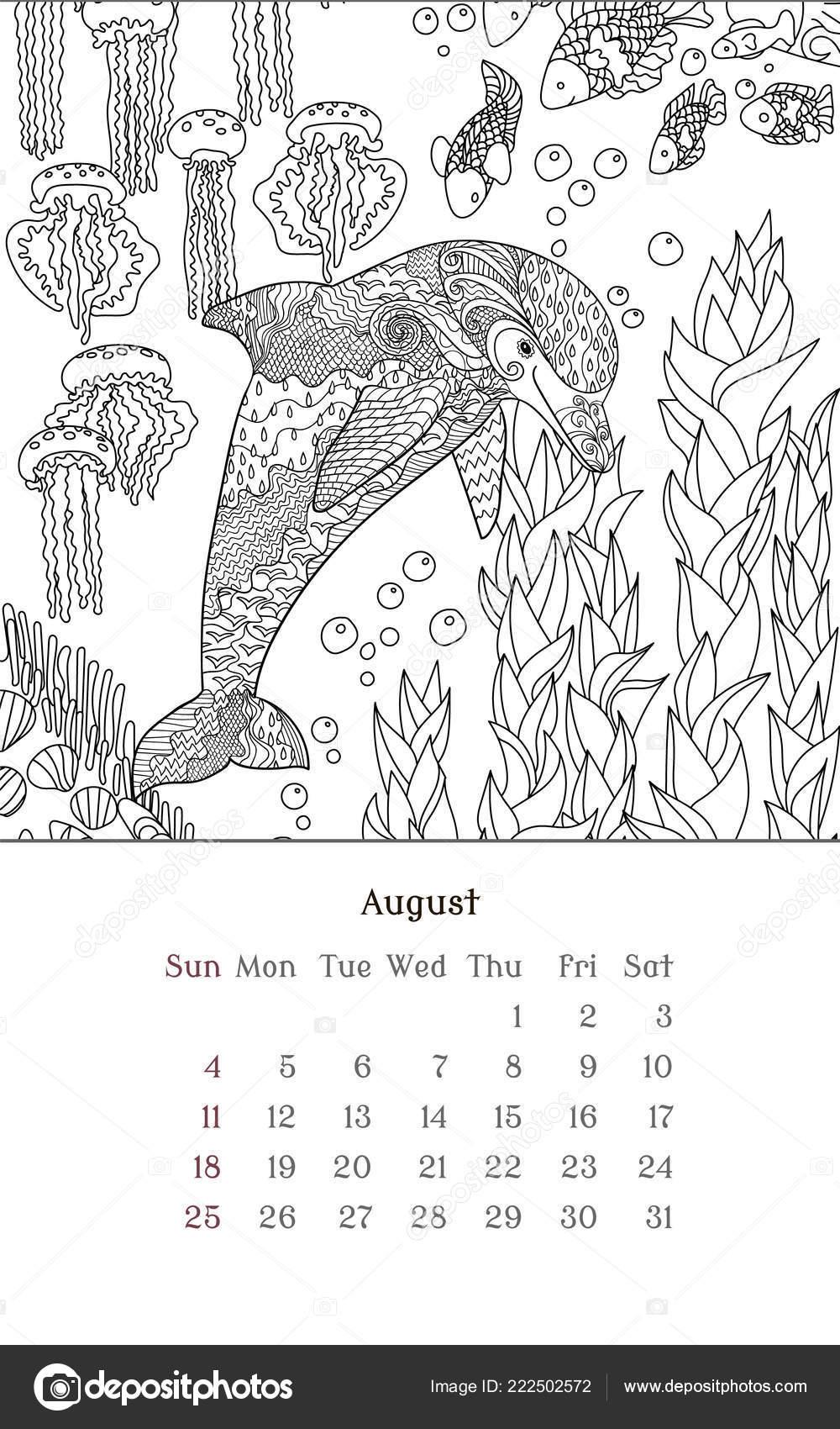 Kalender Kleurplaat 2017 Paard