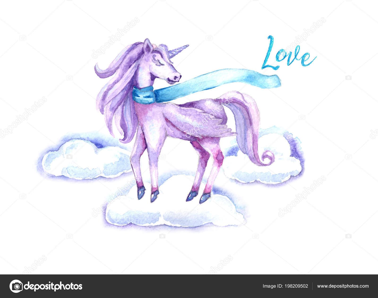 Molde Para Invitaciones De Unicornio Diseño Acuarela Con