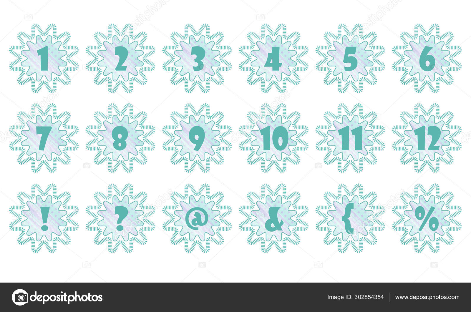 Abstract Figure Flower Number Element Scrapbooking Banner Postcard Design Project Stock Photo C Avdesigner9 302854354