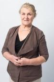 Fényképek Portréja egy régi asszony fehér alapon