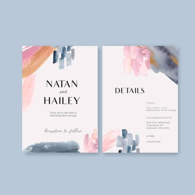 stylish Wedding cards template design with text, vector illustration