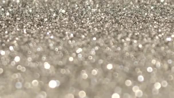 krásné slavnostní lesklé video s třpytivými stříbrnými flitry