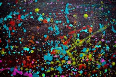 """Картина, постер, плакат, фотообои """"абстрактное искусство, красочные картины маслом на каноне - это красиво, современное искусство. . картина пейзаж все"""", артикул 382034576"""