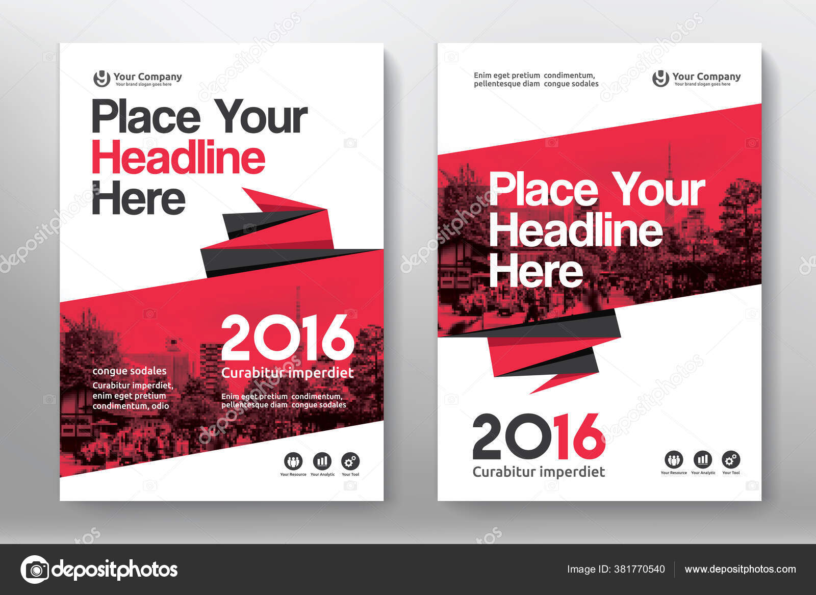 Corporate Book Cover Design Template Can Adapt Brochure
