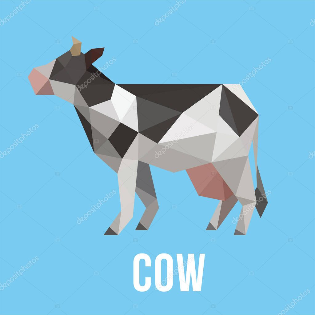 cow low poly logo icon symbol set triangle geometric polygon premium vector in adobe illustrator ai ai format encapsulated postscript eps eps format cow low poly logo icon symbol set