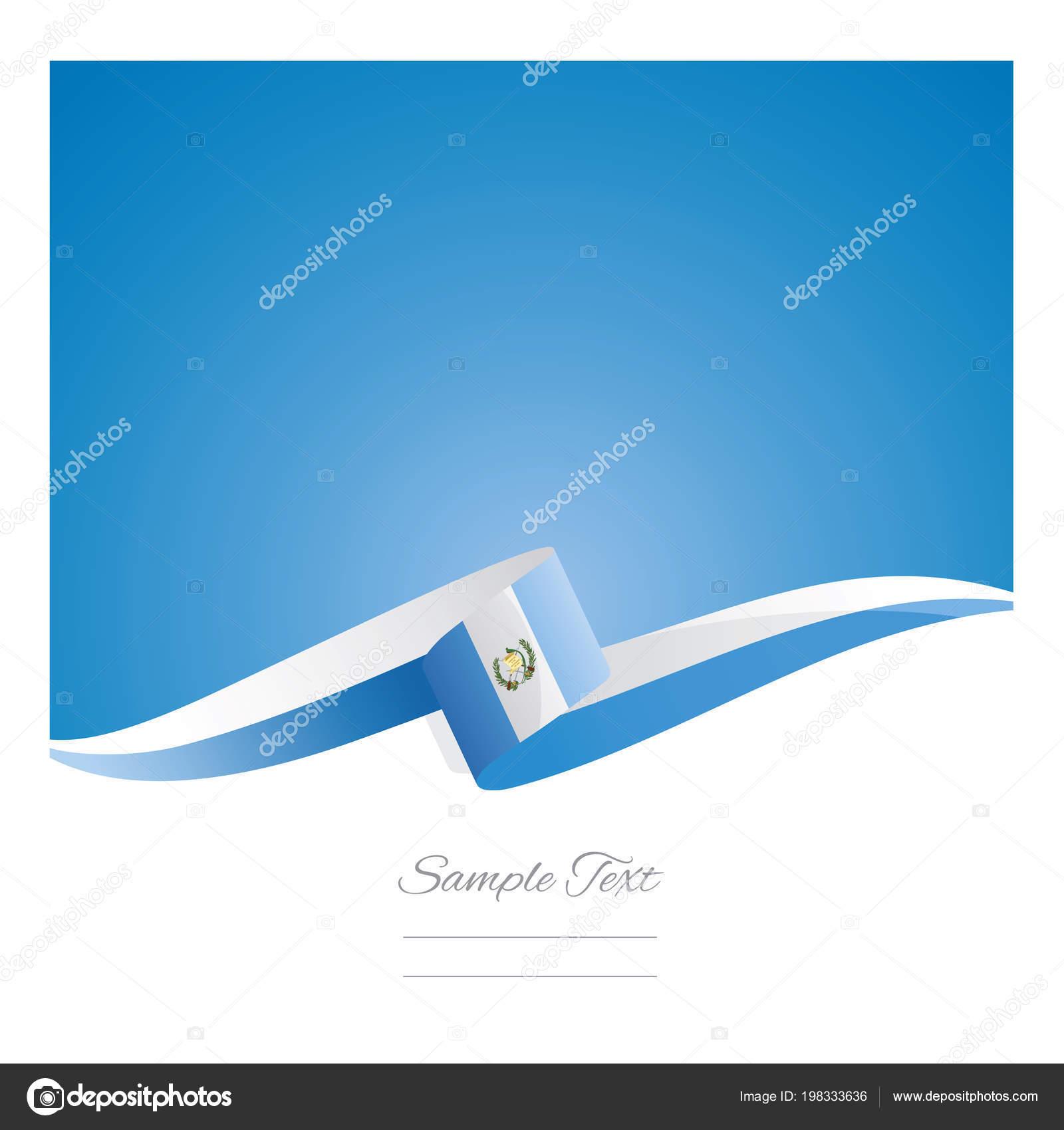 new abstract guatemala flag ribbon stock vector simbos 198333636