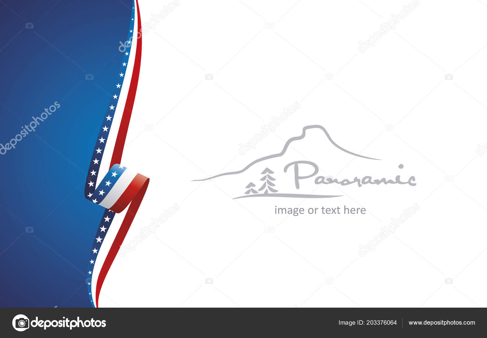 Usa Abstract Flag Brochure Cover Poster Background Vector