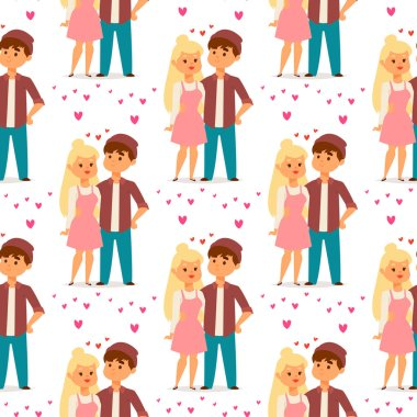 Couple in love vector characters togetherness happy smiling people romantic woman amorousness together adult relationship. Female lifestyle beautiful happiness couple in love characters. stock vector