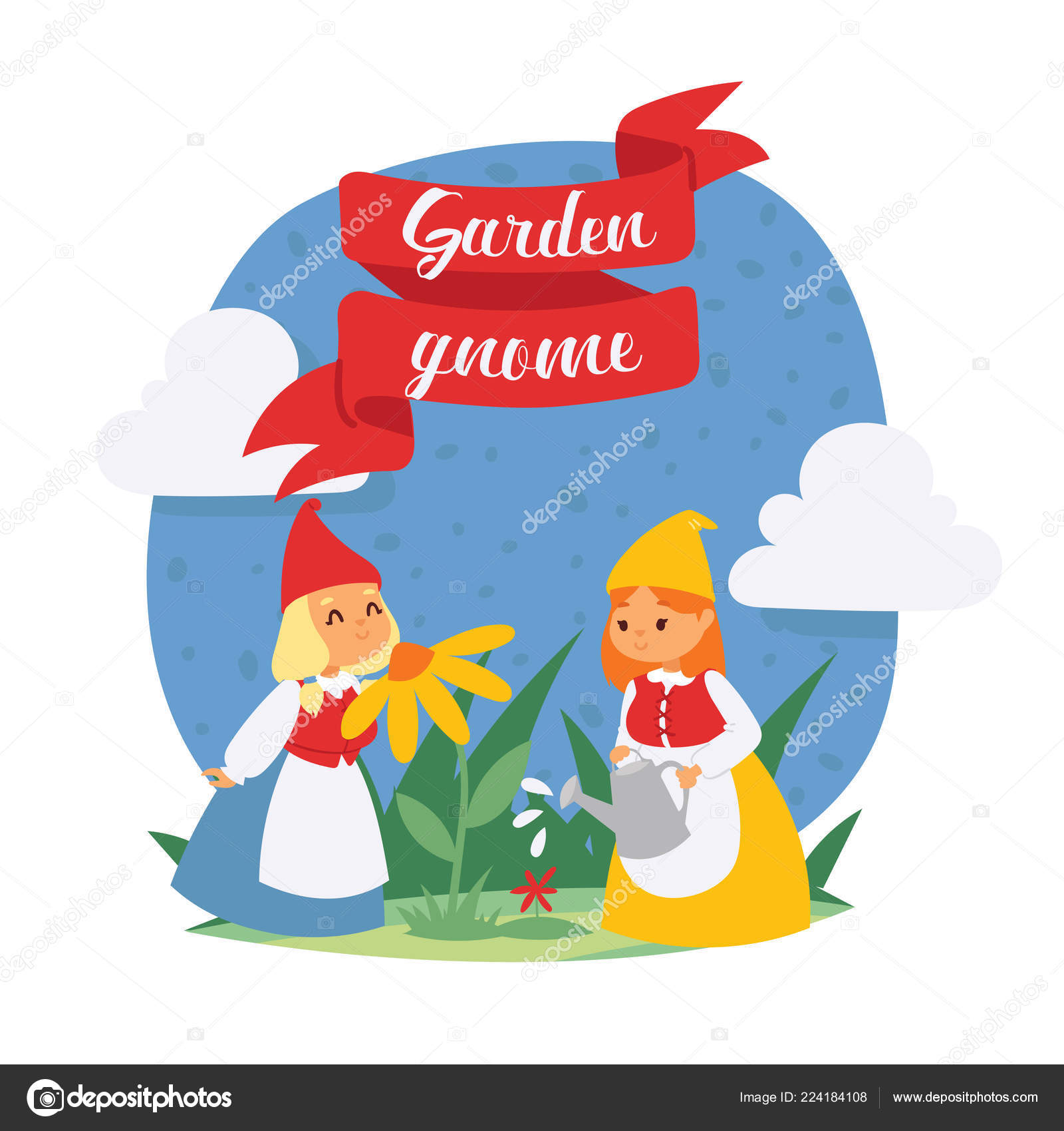 e5e6e9cb0129e Garden Gnome Girls Dwarf Characters Cadr And Gardening Flayer