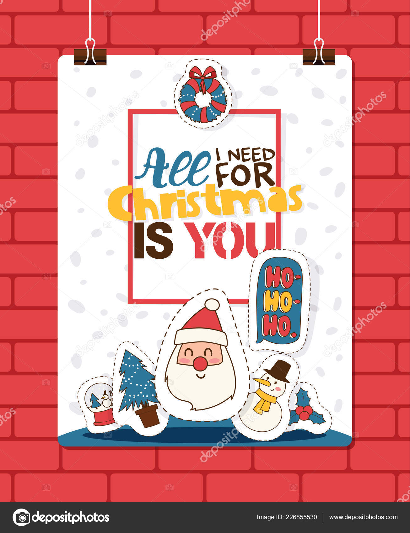 Christmas 2019 Happy New Year Greeting Card Santa And Happy Kids