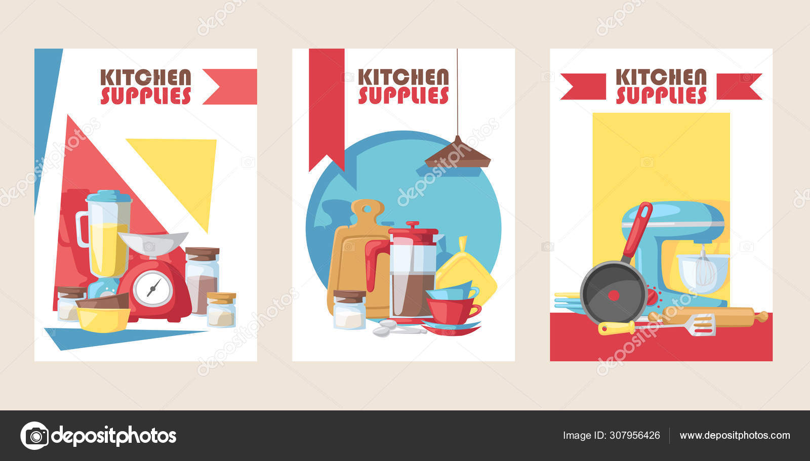 Kitchen supply store banner, vector illustration. Cooking ...