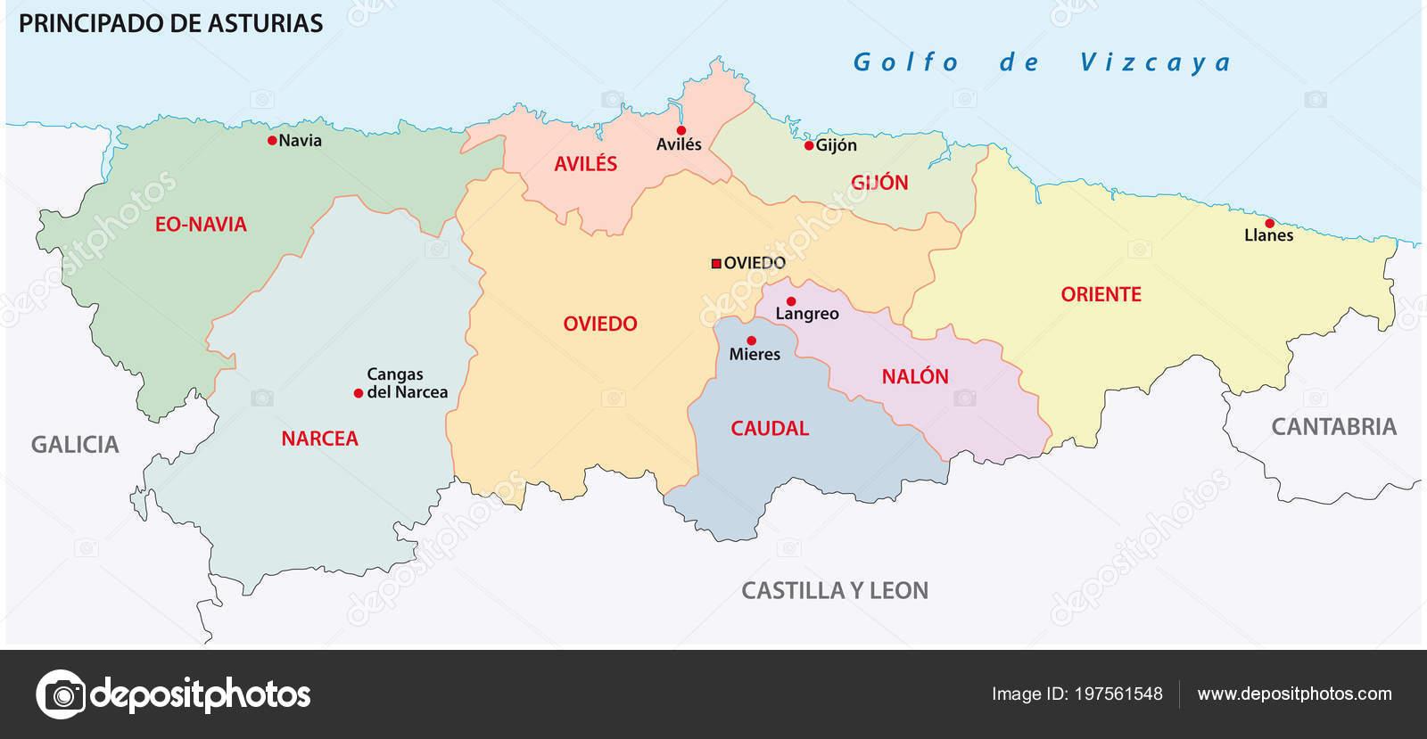 Mapa De Asturias Fisico.Mapa Politico Asturias Detraiteurvannederland