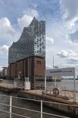 HAMBURG, GERMANY-SEPTEMBER 08, 2018: The Elbphilharmonie building in the port of Hamburg, germany.