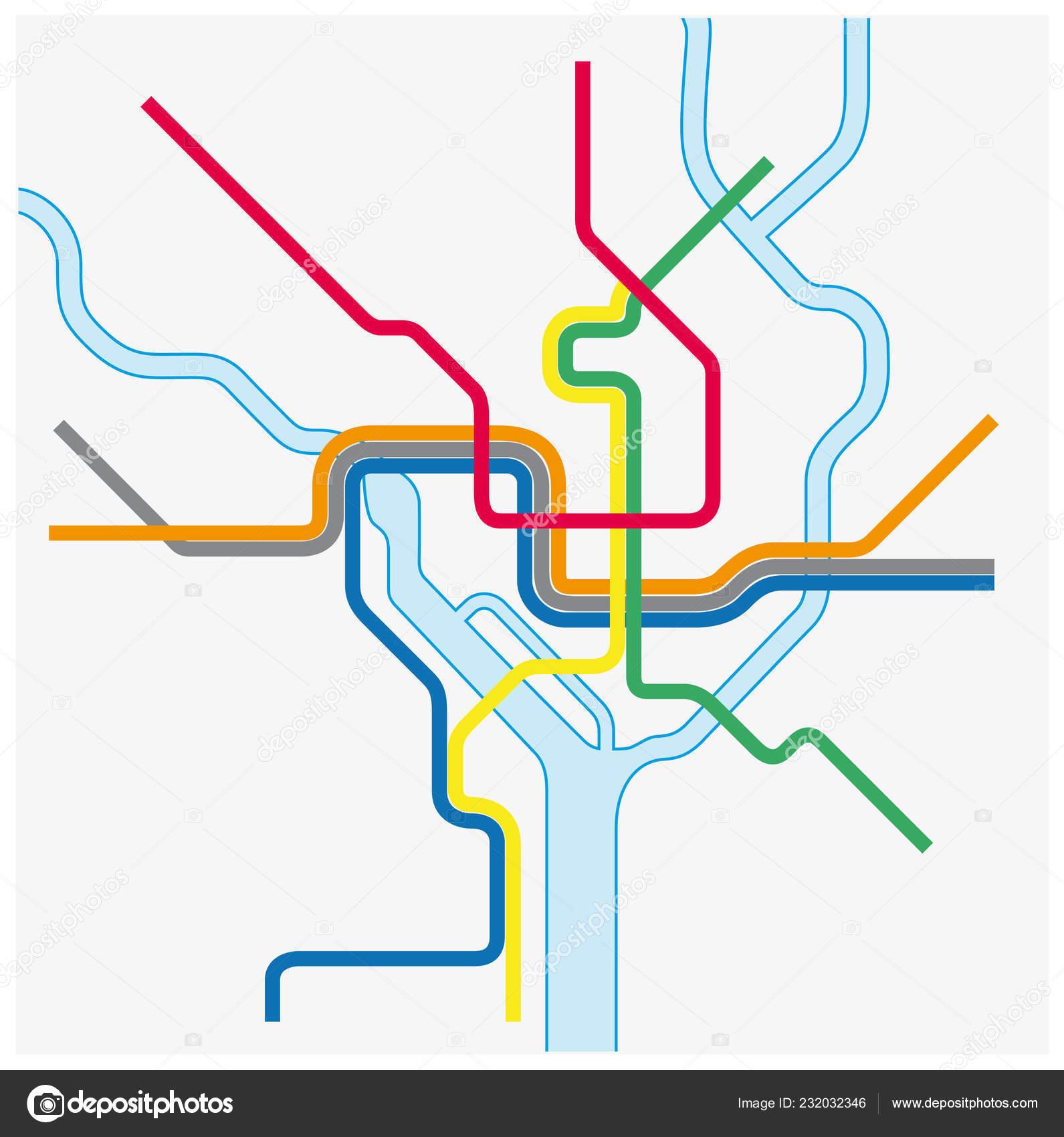 Metro Map Washington United States — Stock Vector © Lesniewski ...