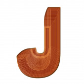 Photo The letter J in brown with a distinctive wireframe design