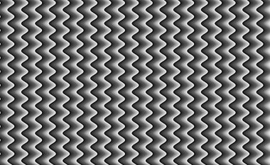 A black and white wavy zigzag hypnotic abstract background pattern