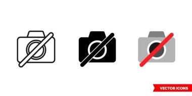 No photo available icon of 3 types. Isolated vector sign symbol.
