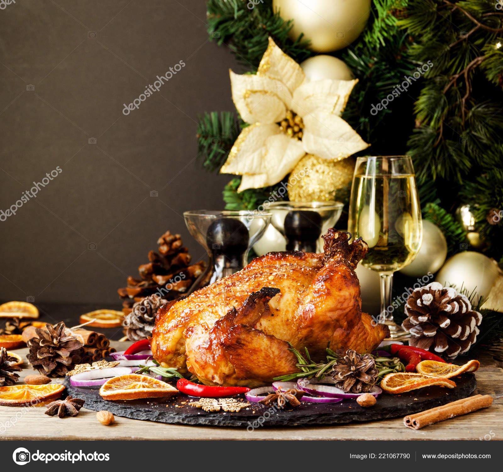 Roast Chicken Turkey Christmas New Year Thanksgiving Day
