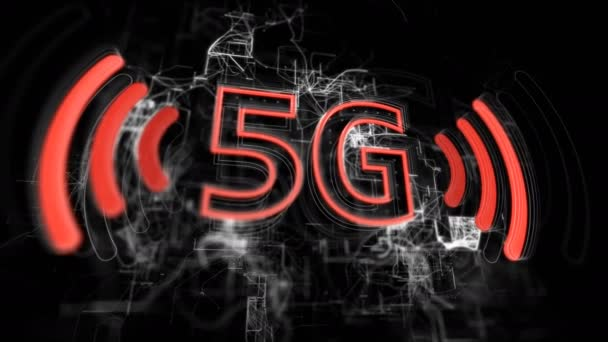 5G high speed wireless cellular network for phone. Hud background.