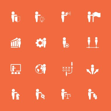 Stylish various icons set, vector illustration icon