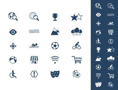 Stylish hotel icons set, vector illustration icon