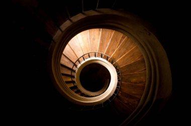 Spiraled staircase in catherdal in Sedlec, Kutna Hora, Czech Republic.